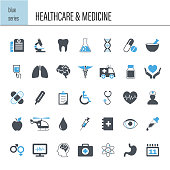 Vector healthcare and medicine icon set