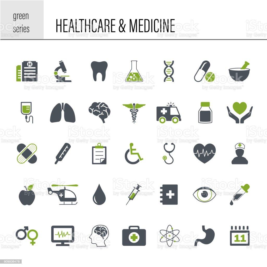 Healthcare and Medicine Icon Set