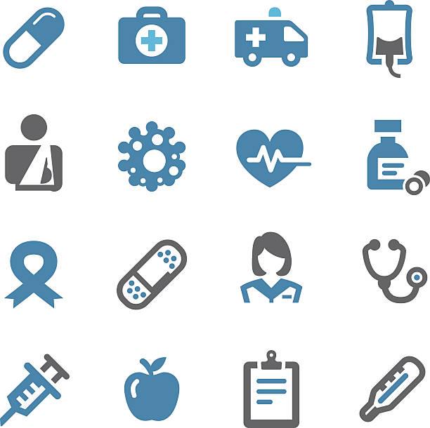 ilustrações, clipart, desenhos animados e ícones de saúde e medicina ícones-saguão série - enfermeira