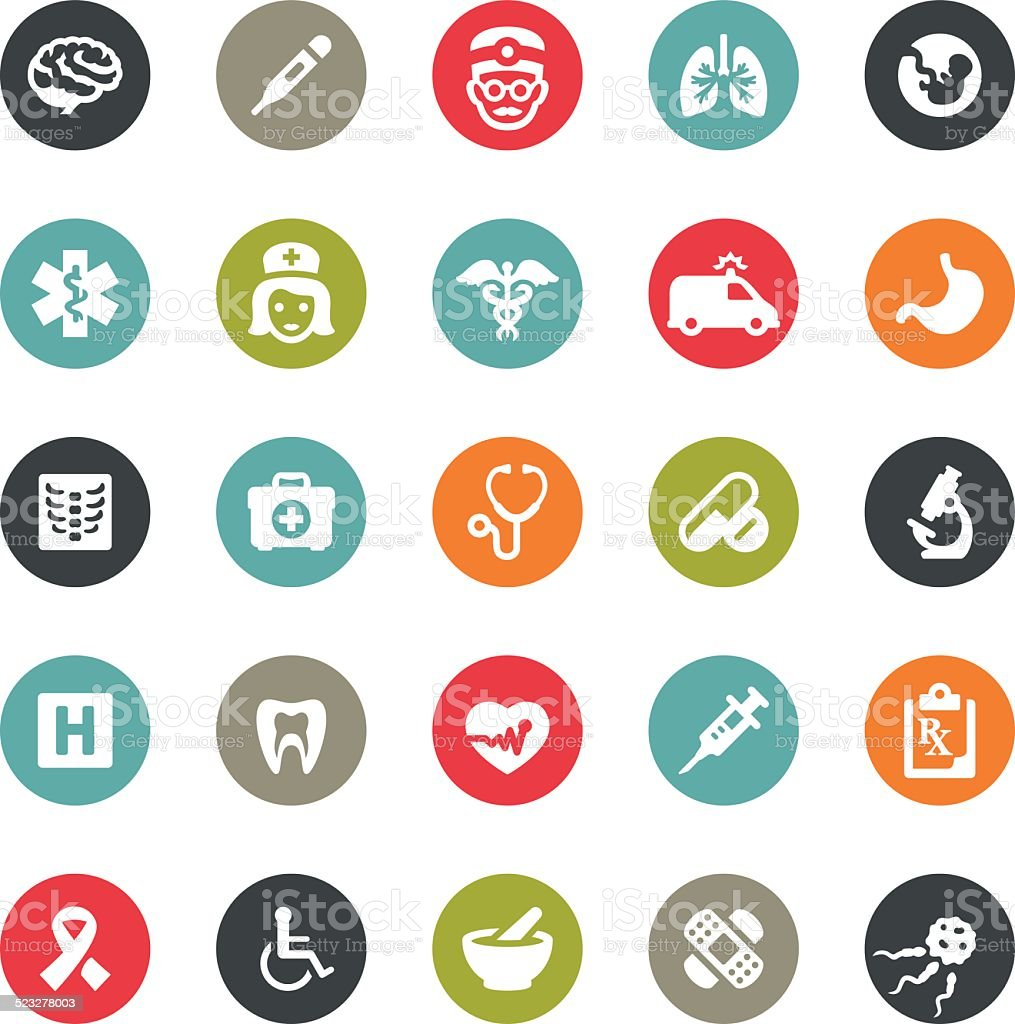 Healthcare and Medicine icons / Ringico series vector art illustration