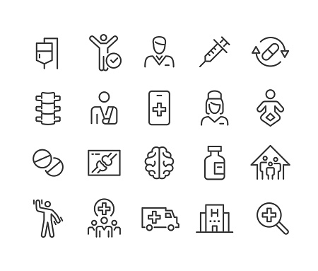 Healthcare and Medicine - Icons Set - Classic Line Series