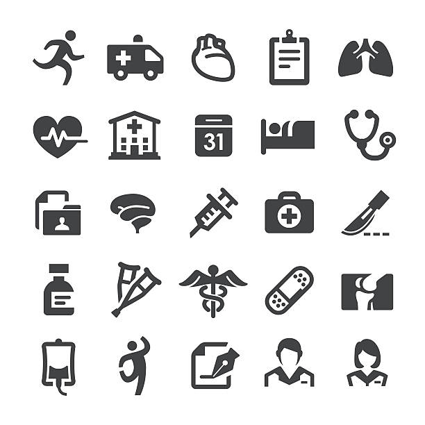 Healthcare and Medicine Icons - Smart Series vector art illustration