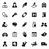 Healthcare, medical, medicine, health and wellness, health care, icons, symbols.