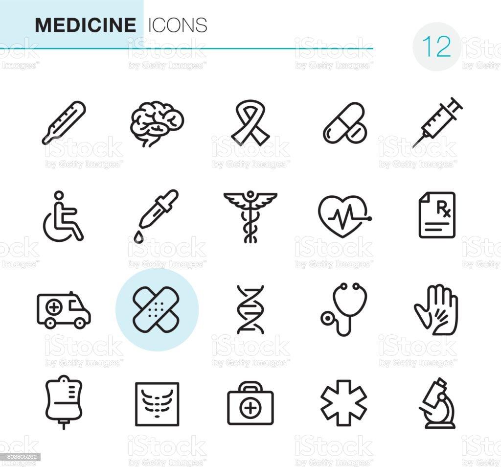 Gesundheitswesen und Medizin - Perfect Pixel icons – Vektorgrafik