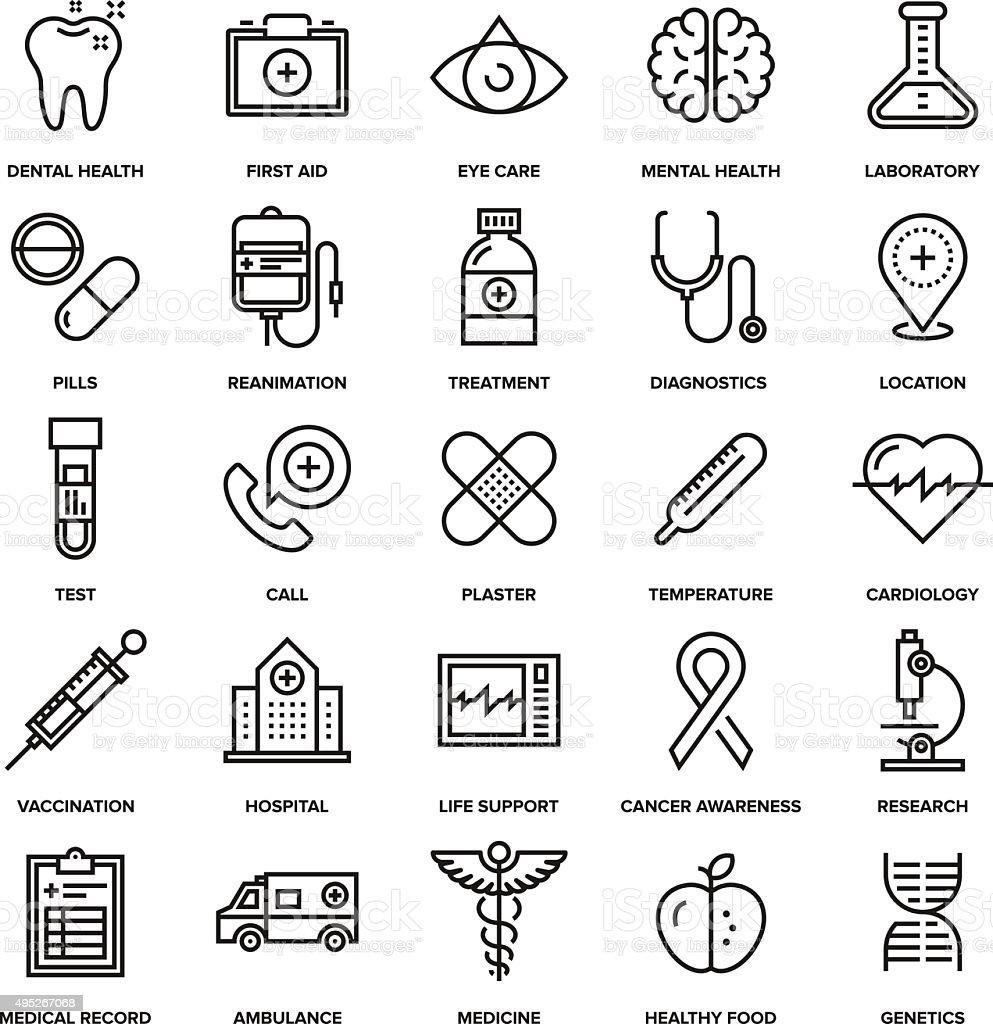 Healthcare and Medicine vector art illustration