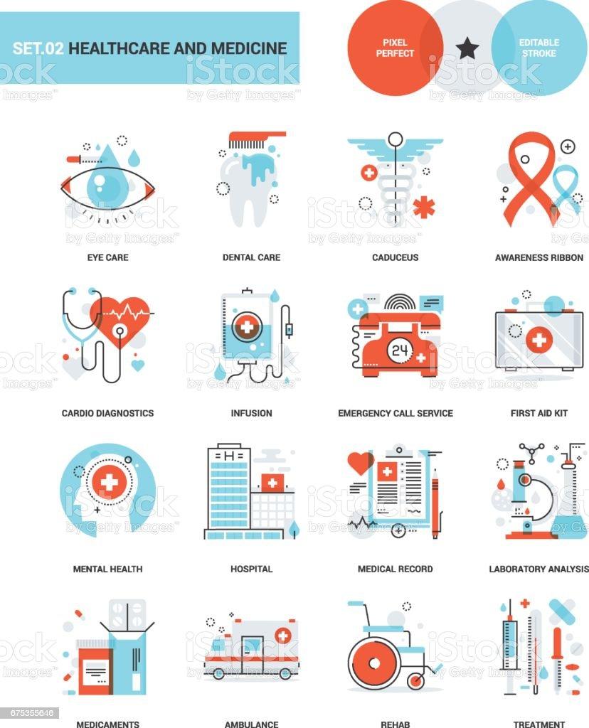 Saúde e Medicina - ilustração de arte em vetor
