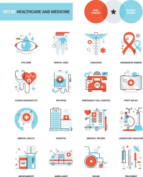 healthcare and medicine - medical equipment stock illustrations, clip art, cartoons, & icons