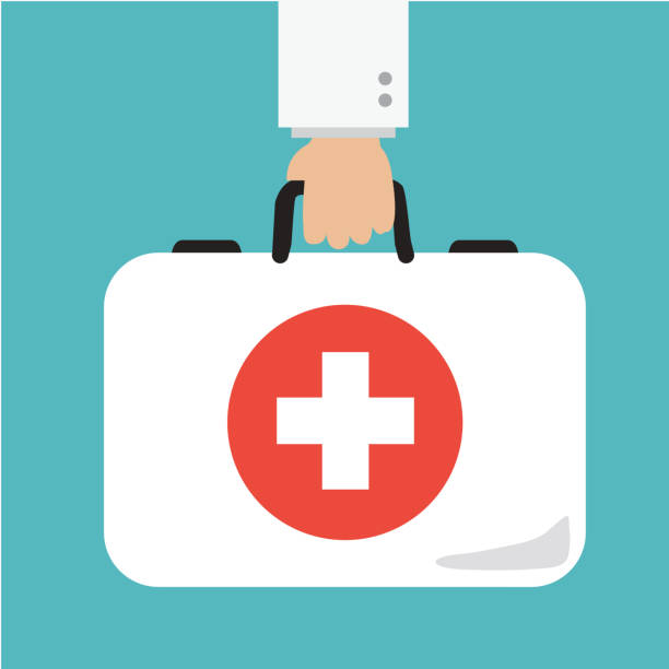 healthcare briefcase - first aid stock illustrations, clip art, cartoons, & icons