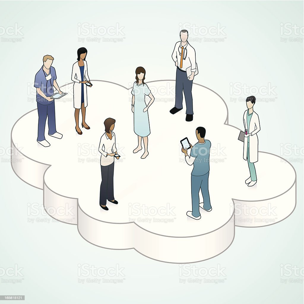 Healthcare Cloud Illustration vector art illustration