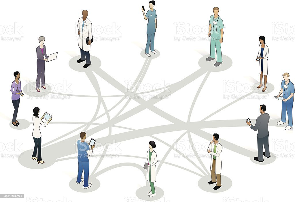 Healthcare Collaboration Illustration Stock Illustration