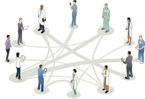 Healthcare Collaboration Illustration vector art illustration
