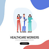 istock Healthcare Concept Vector Illustration for Website Banner, Advertisement and Marketing Material, Online Advertising, Business Presentation etc. 1265182460