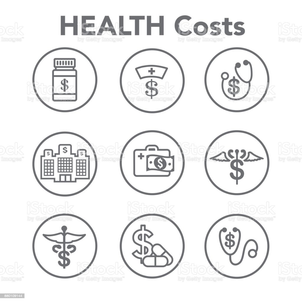 Healthcare costs and expenses showing concept of expensive health care vector art illustration
