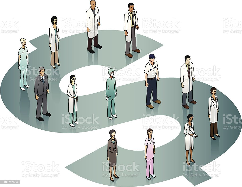 Healthcare Costs Illustration vector art illustration