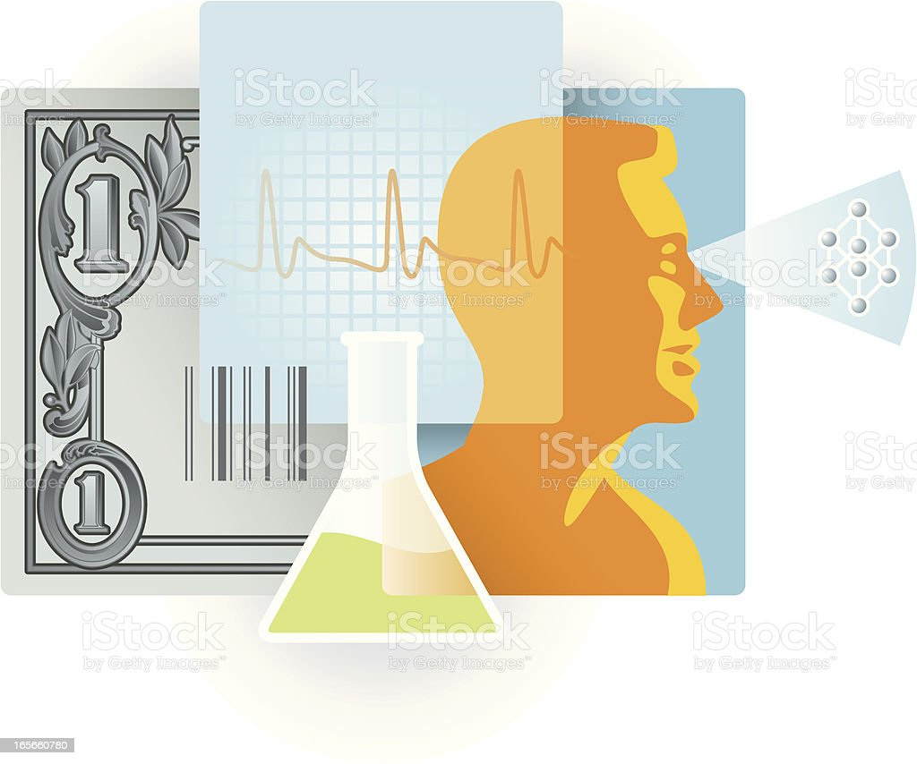healthcare costs royalty-free stock vector art