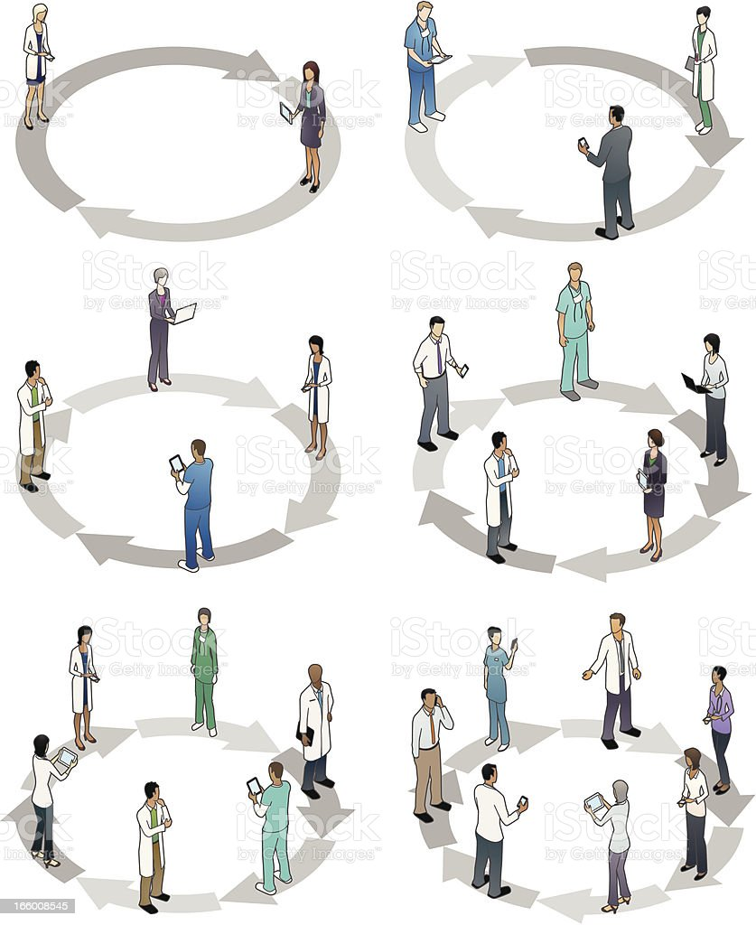 Healthcare Cycle Diagrams vector art illustration