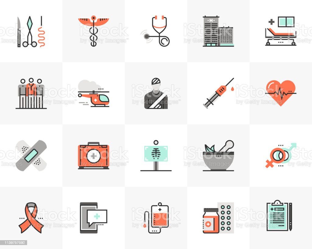 Healthcare Futuro Next Icons Pack royalty-free healthcare futuro next icons pack stock illustration - download image now