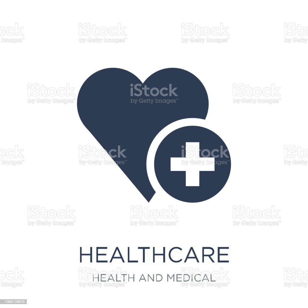 Healthcare icon. Trendy flat vector Healthcare icon on white background from Health and Medical collection vector art illustration