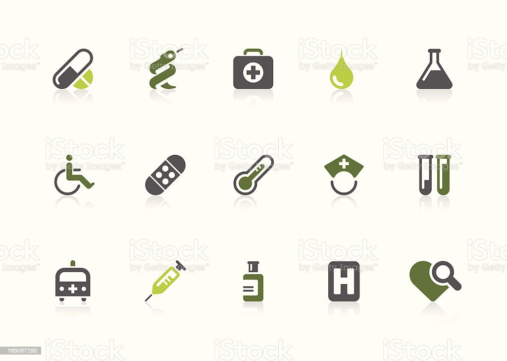 Healthcare icons   lime series royalty-free stock vector art