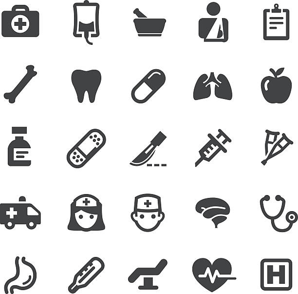 Healthcare Icons - Smart Series vector art illustration