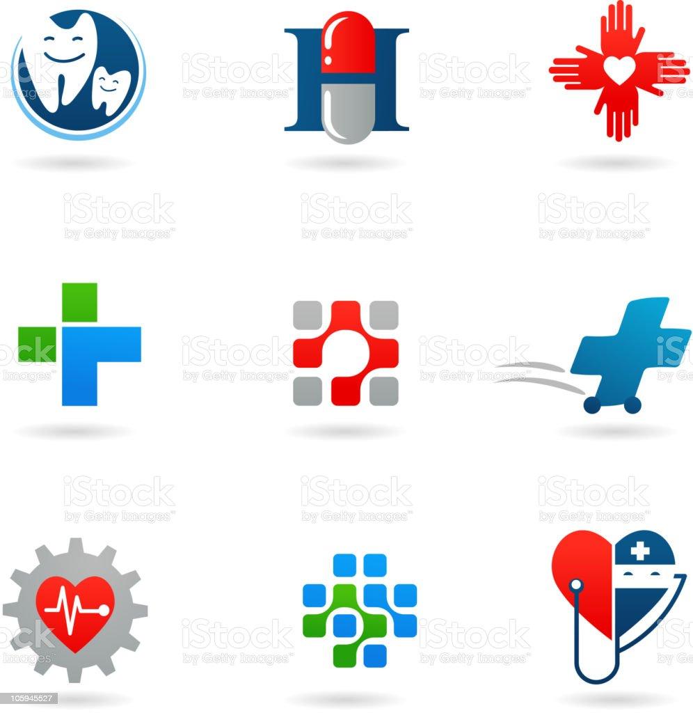 Health-care icons vector art illustration