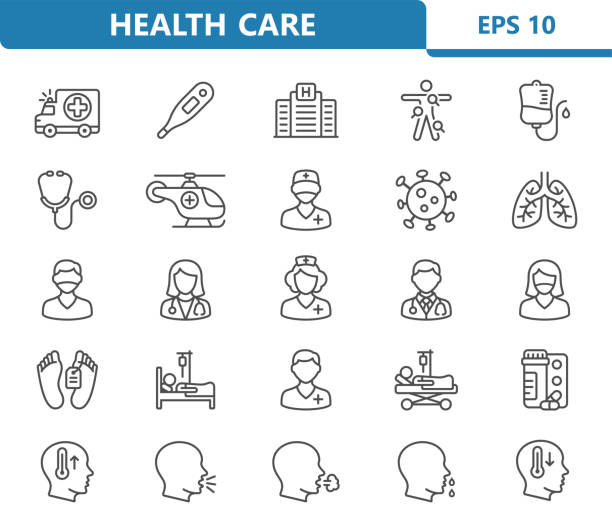 Healthcare Icons Professional, pixel perfect icons optimized for both large and small resolutions. EPS 10 format. death stock illustrations