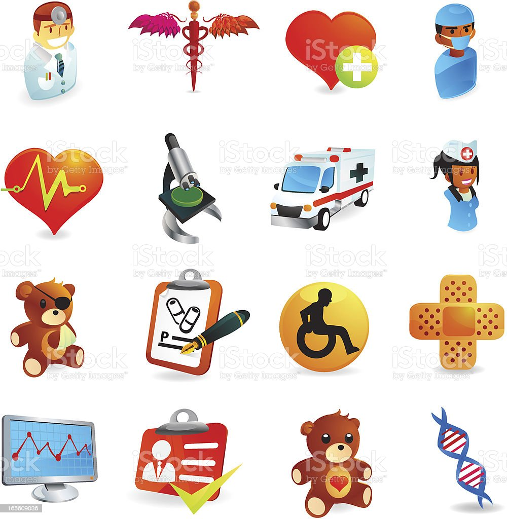 Healthcare Icons royalty-free healthcare icons stock vector art & more images of accidents and disasters