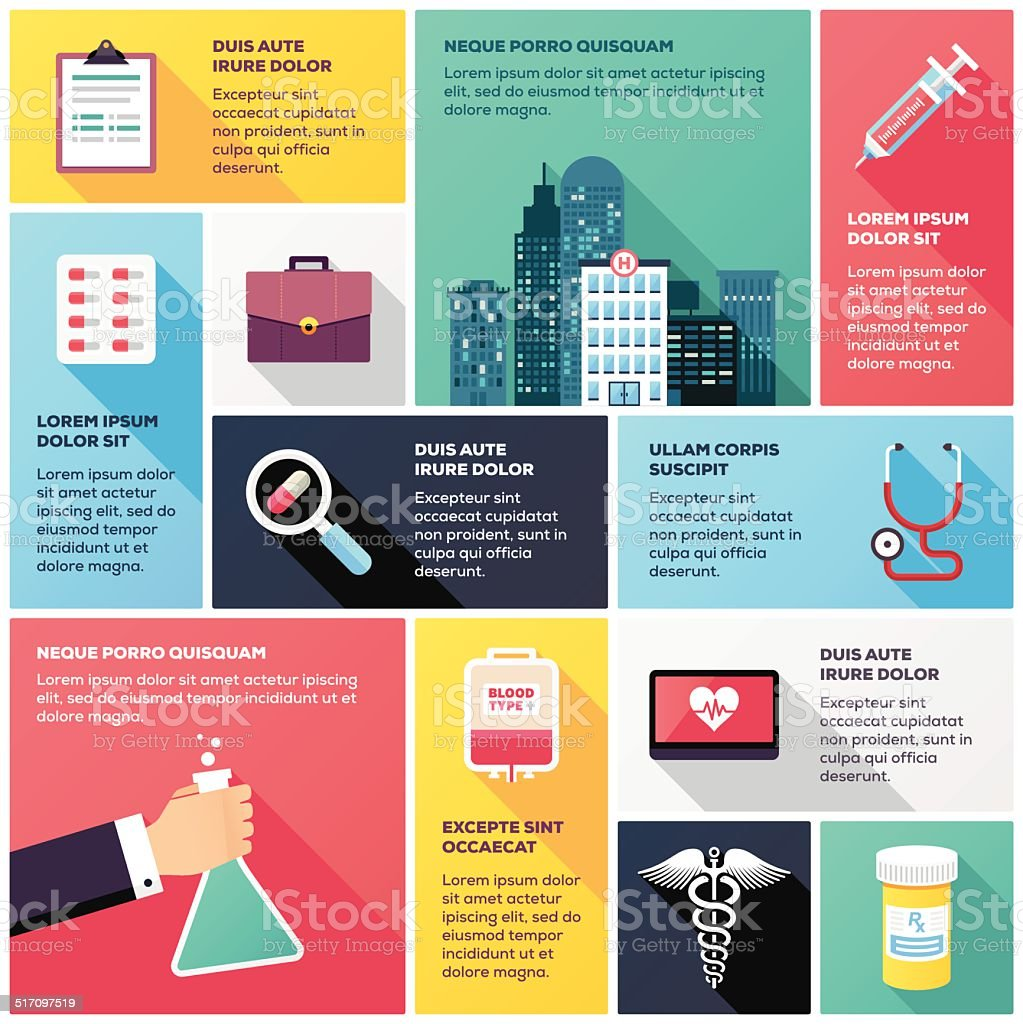Healthcare Infographic vector art illustration