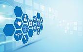 healthcare innovation concept design background eps 10 vector