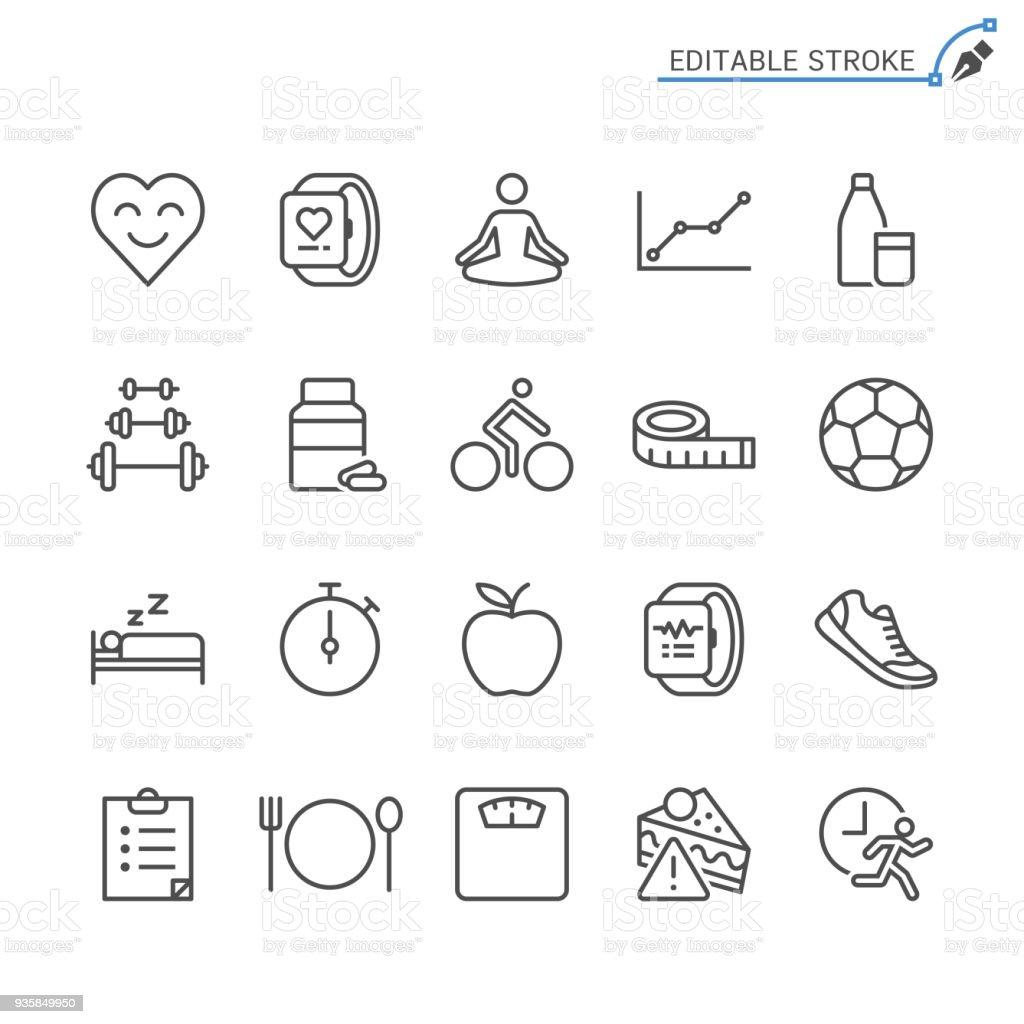 Healthcare line icons. Editable stroke. Pixel perfect. royalty-free healthcare line icons editable stroke pixel perfect stock illustration - download image now