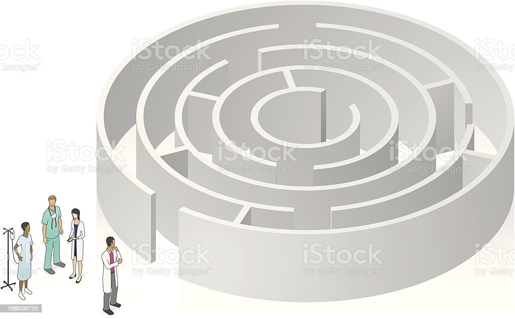 Healthcare Maze Illustration royalty-free stock vector art