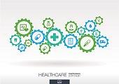 Healthcare mechanism concept.