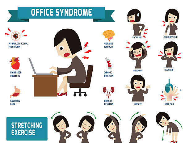 Best Neck Pain Illustrations Royalty Free Vector Graphics