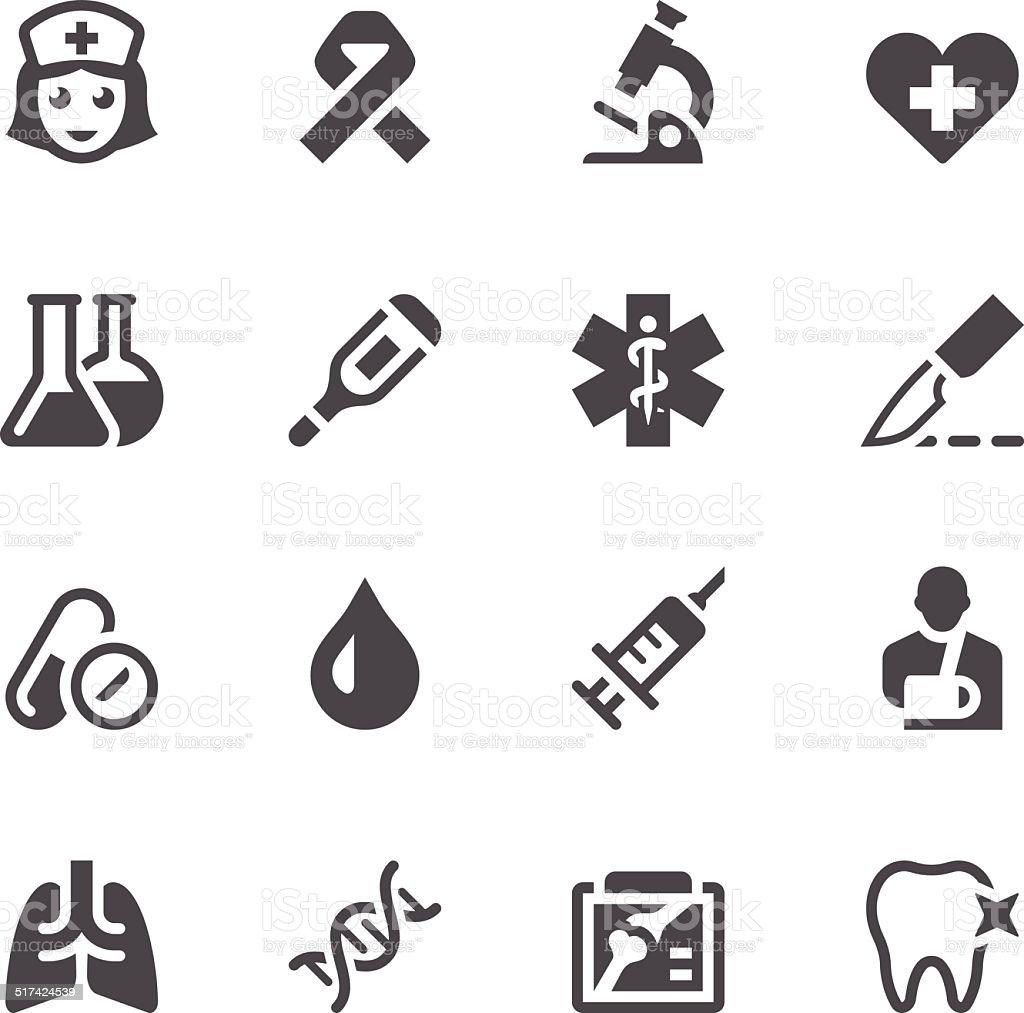 Healthcare & Medicine Icon Set vector art illustration
