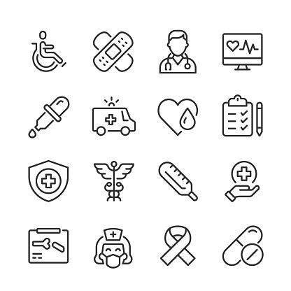 Healthcare & Medicine Icons — Monoline Series