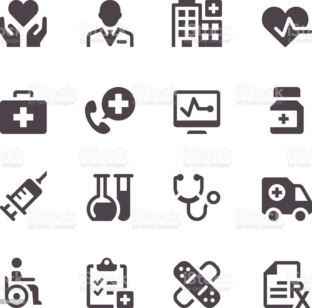 Healthcare & Medicine Icons vector art illustration