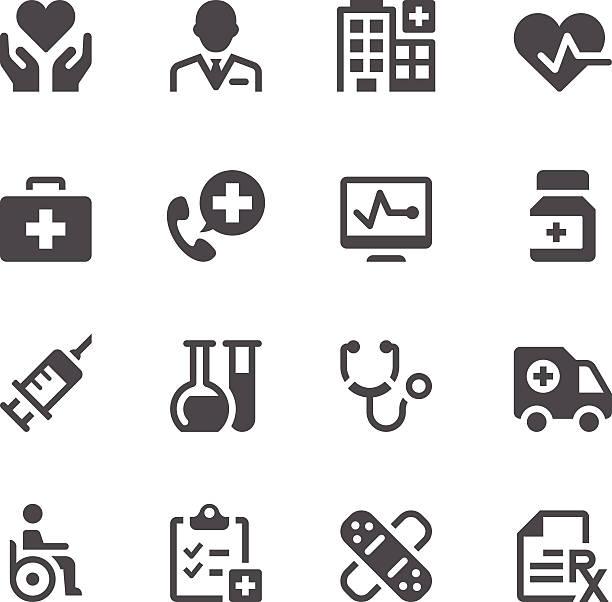 illustrazioni stock, clip art, cartoni animati e icone di tendenza di sanitaria icone di medicina & - scheda clinica