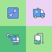 Healthcare Multi Color Icons