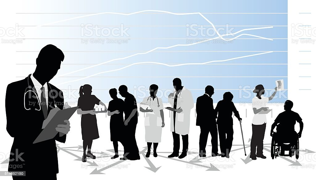 Healthcare Practitioner vector art illustration