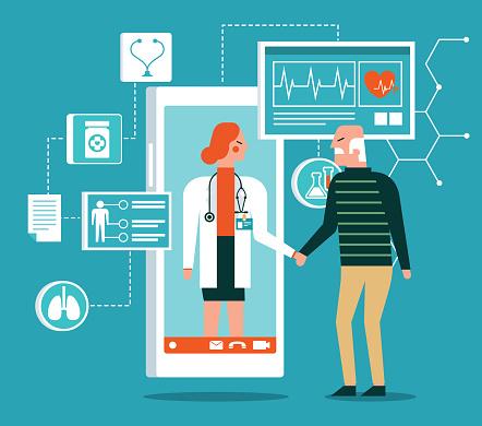 Healthcare service - online - old patient