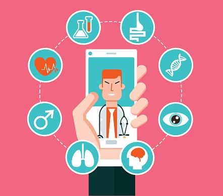 Healthcare service online - smartphone