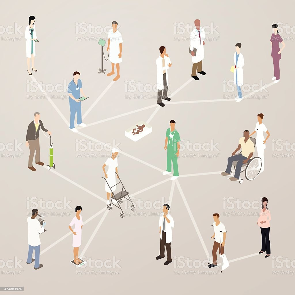 Healthcare Social Media Illustration vector art illustration