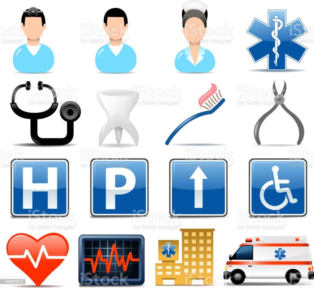 healthcare symbols royalty-free stock vector art