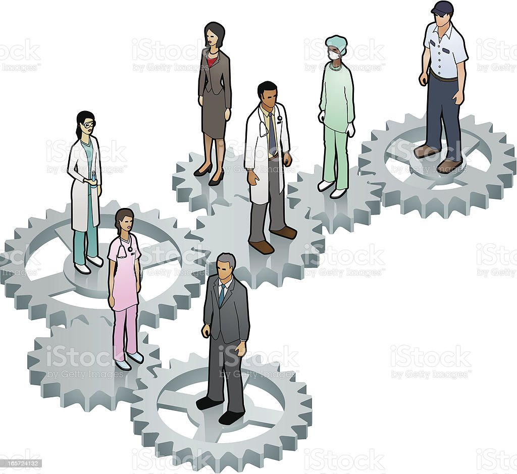 Healthcare System vector art illustration
