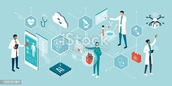 istock Healthcare trends and innovative technologies 1202231901