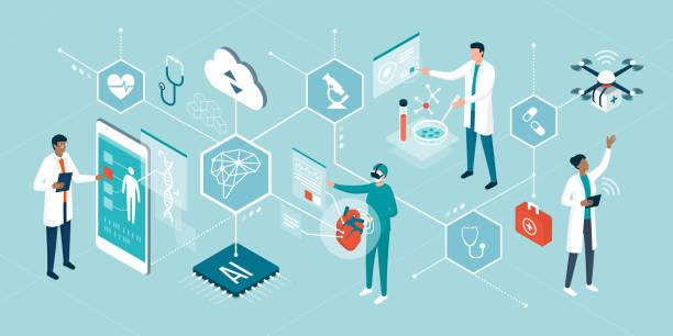 ヘルスケアのトレンドと革新的な技術 - ai点のイラスト素材/クリップアート素材/マンガ素材/アイコン素材
