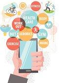 Healthcare using Smartphone.