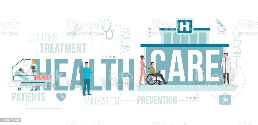 Healthcare vector art illustration
