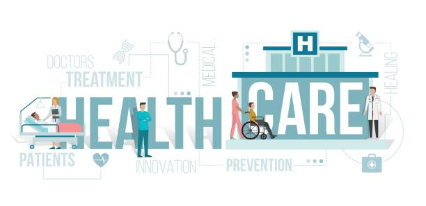 healthcare - care home stock illustrations