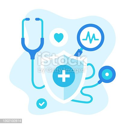 Healthcare vector illustration. Flat design. Abstract medical concept